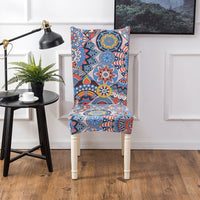 Multi-Color Bohemian Pattern Dining Chair Cover