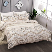 2/3-Piece Abstract Wave Print Duvet Cover Set