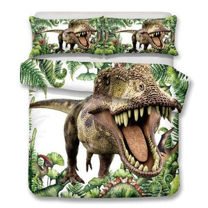 2/3-Piece Kids Hungry T-Rex Dinosaur Duvet Cover Set