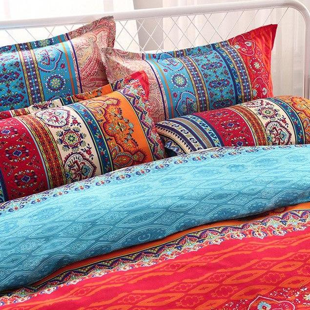 Multi-Color 2/3-Piece Ethic Bohemian Pattern Duvet Cover Set