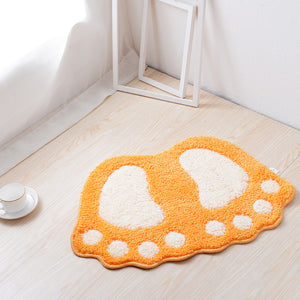 Footprint Shape Bathroom Rug Mat