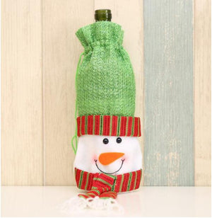 Decorative Christmas Wine Bottle Cover Bag