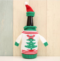 Knitted Ugly Christmas Sweater Beer Coozy