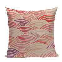 "18"" Pink Abstract Watercolor Painting Throw Pillow Cover"