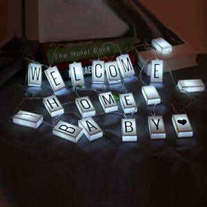 Battery-Power DIY Light Box Letters LED String Light