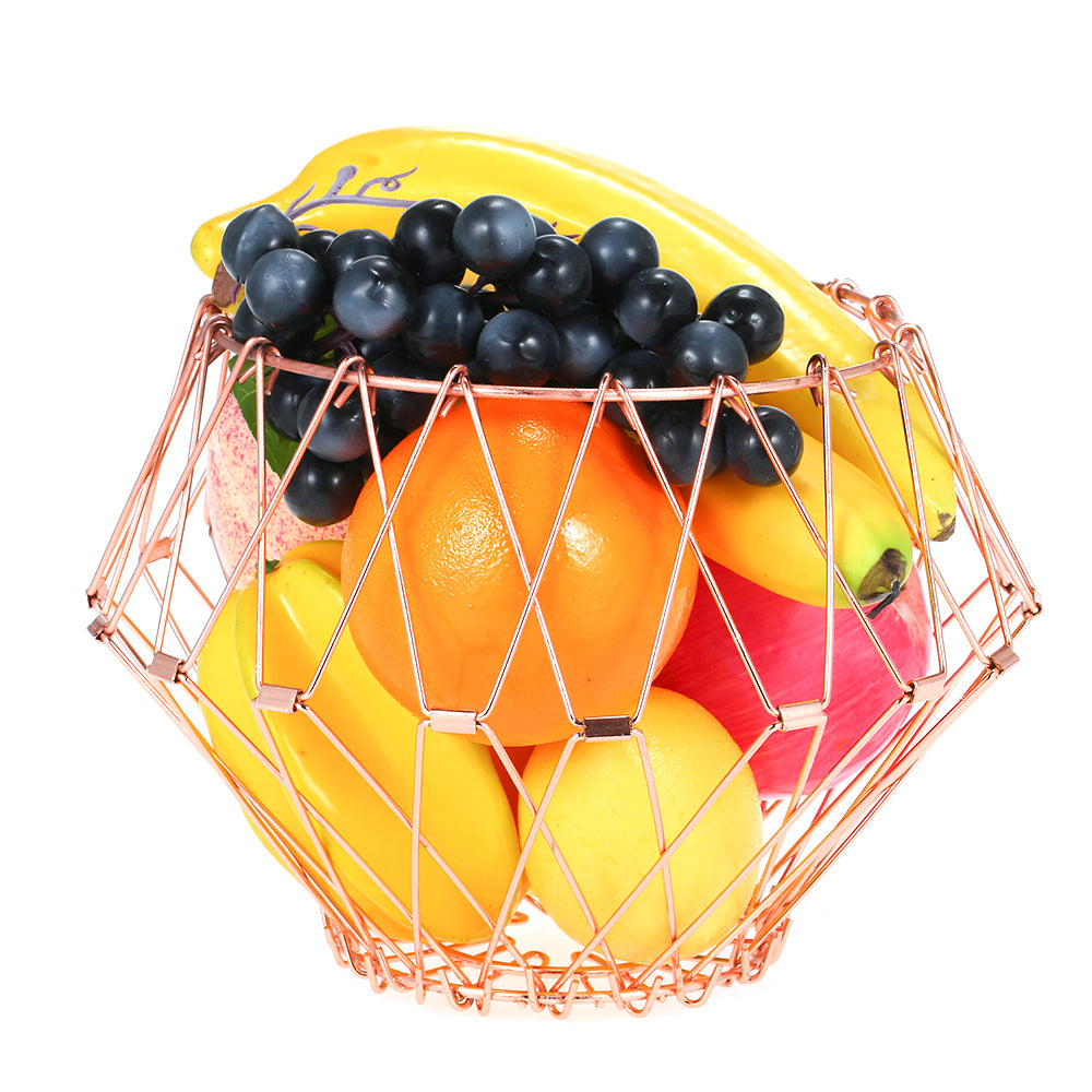 Multi-Shape Rose Gold Stainless Steel Fruit Basket