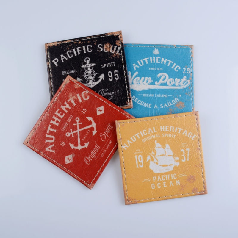 4-Piece Nautical Heritage Drink Coaster Set