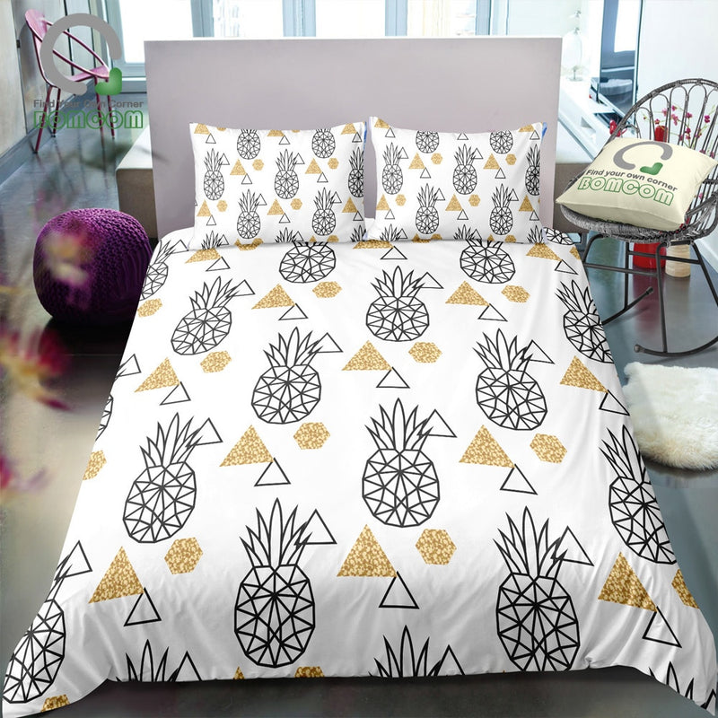 2/3-Piece Geometric Pineapple Pattern Duvet Cover Set