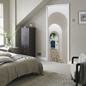 Arched Stone Pathway 3D Door Mural Sticker
