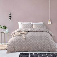 2/3-Piece Quarterfoil Lattice Pattern Duvet Cover Set
