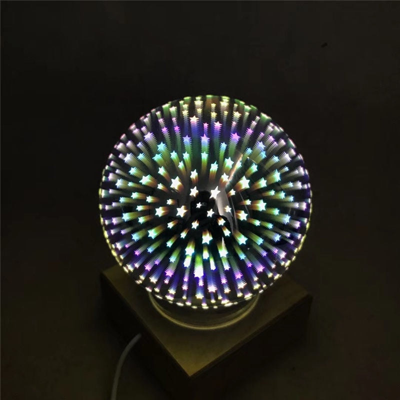 3D Magic Glass Ball USB Night Light Desk Lamp