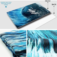XL Quick-Dry Blue Ride The Wave Beach Towel