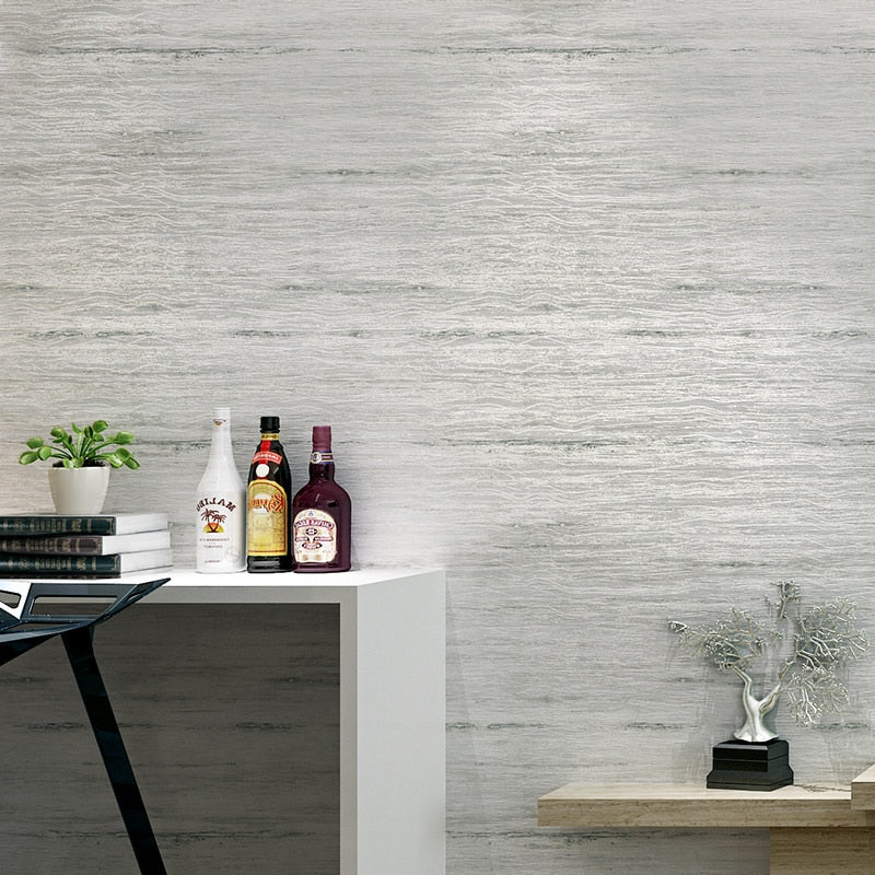 Contemporary Metallic Marble Pattern Wallpaper