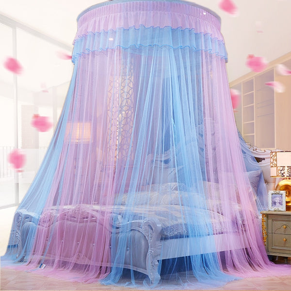 Two Color 47 Quot Round Sheer Princess Bed Canopy Decorzee