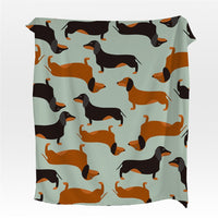Fleece Dachshund Wiener Dog Pattern Throw Blanket