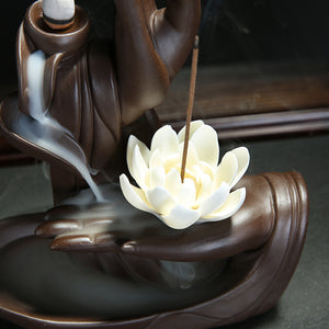 Tathagata Buddha Hands Backflow Incense Burner