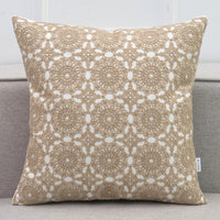 "18"" Embroidered Lace Pattern Throw Pillow Cover"