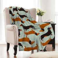Fleece Dachshund Wiener Dog Throw Blanket