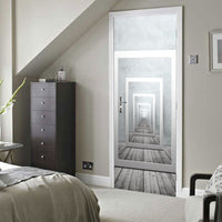 Repeating Mirror Pathway 3D Door Mural Sticker