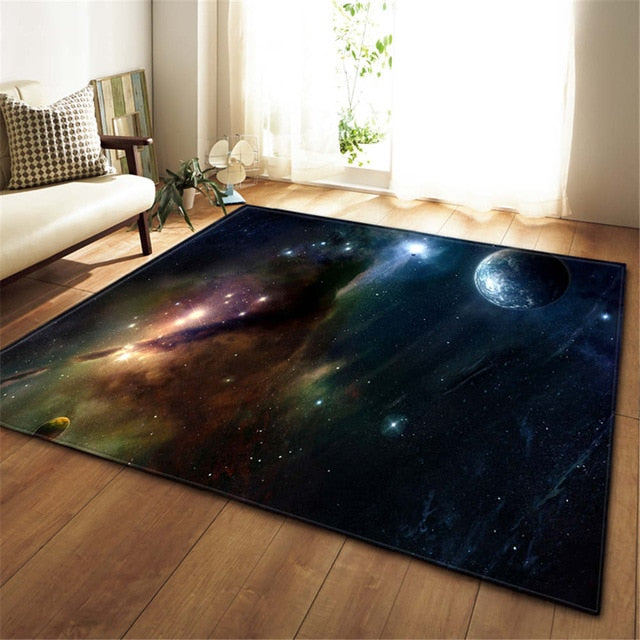 Colorful Space / Galaxy Print Area Rug Floor Mat