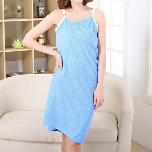 Women's Spaghetti Strap Wearable Bath Towel Wrap