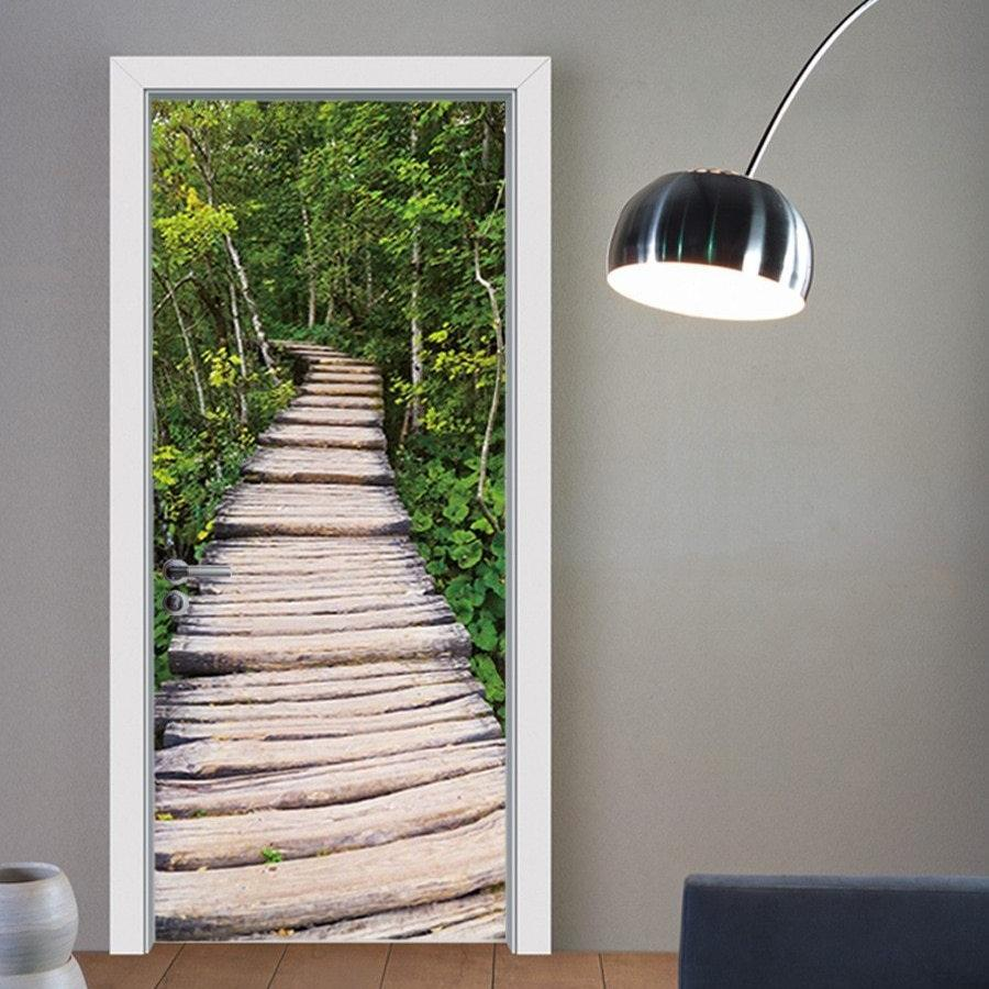Wood Forest Pathway 3D Door Mural Sticker
