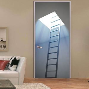 Stairway To Heaven Sky Ladder Door Mural Sticker