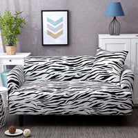 Black & White Zebra Print Sofa Couch Cover