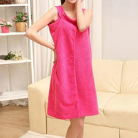 Women's Scoop Top Wearable Bath Towel Wrap