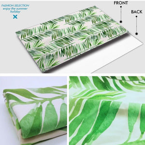 XL Quick-Dry Green Palm Leaf Pattern Beach Towel