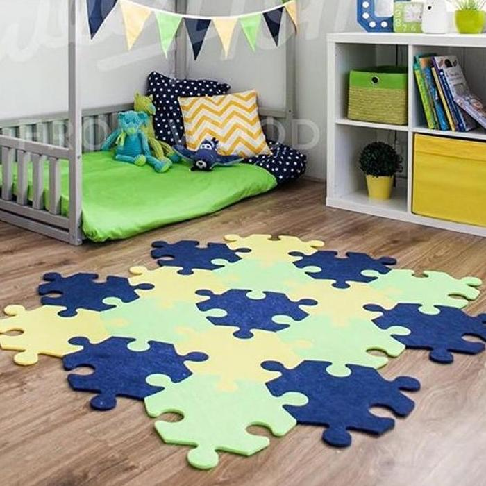 Polygon Puzzle Piece Foam Interlocking Floor Mat