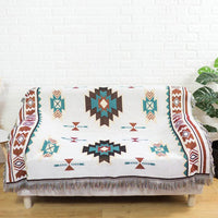 Knitted Southwestern Geometric Tapestry Sofa Throw Cover