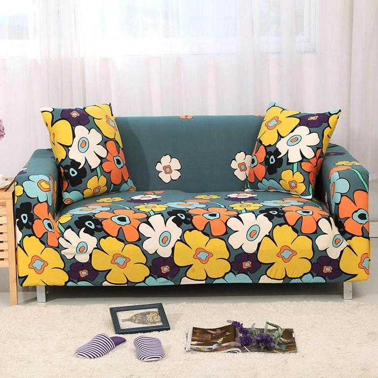 Colorful Hippie Flower Pattern Sofa Couch Cover