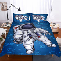 2/3-Piece Kids Cartoon Astronaut Duvet Cover Set