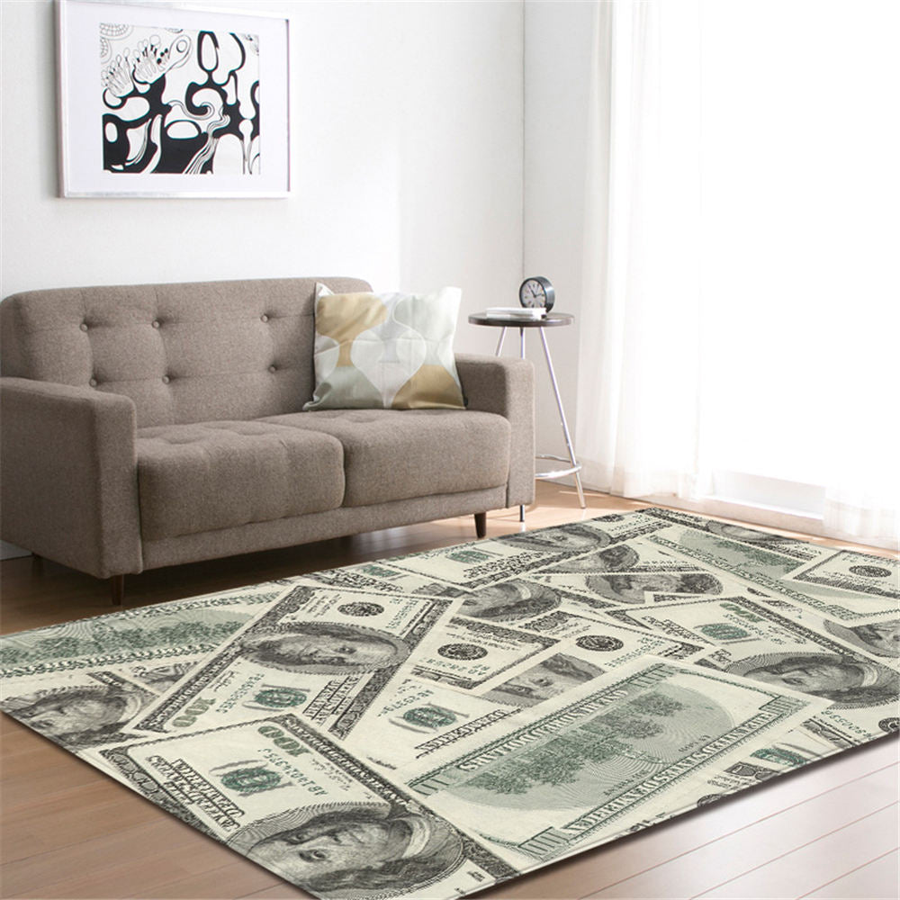 One Hundred Dollar Bill Print Area Rug Floor Mat