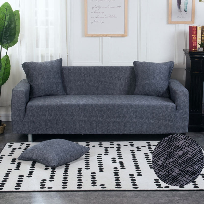 Fabric Texture Pattern Elastic Sofa Couch Cover Decorzee