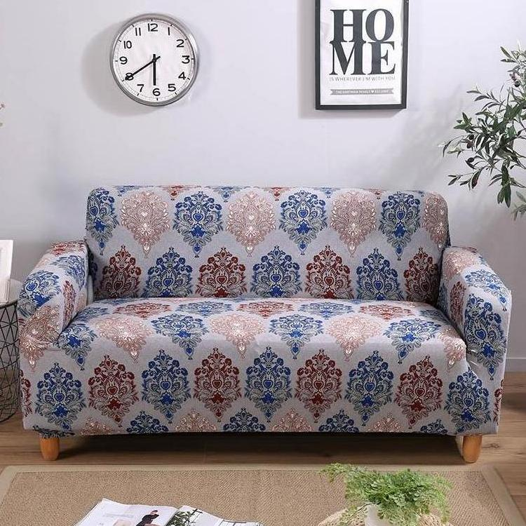 Multi-Color Vintage Medallion Pattern Sofa Couch Cover