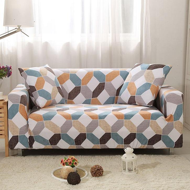 Multi-Color Geometric Octagon Pattern Sofa Couch Cover