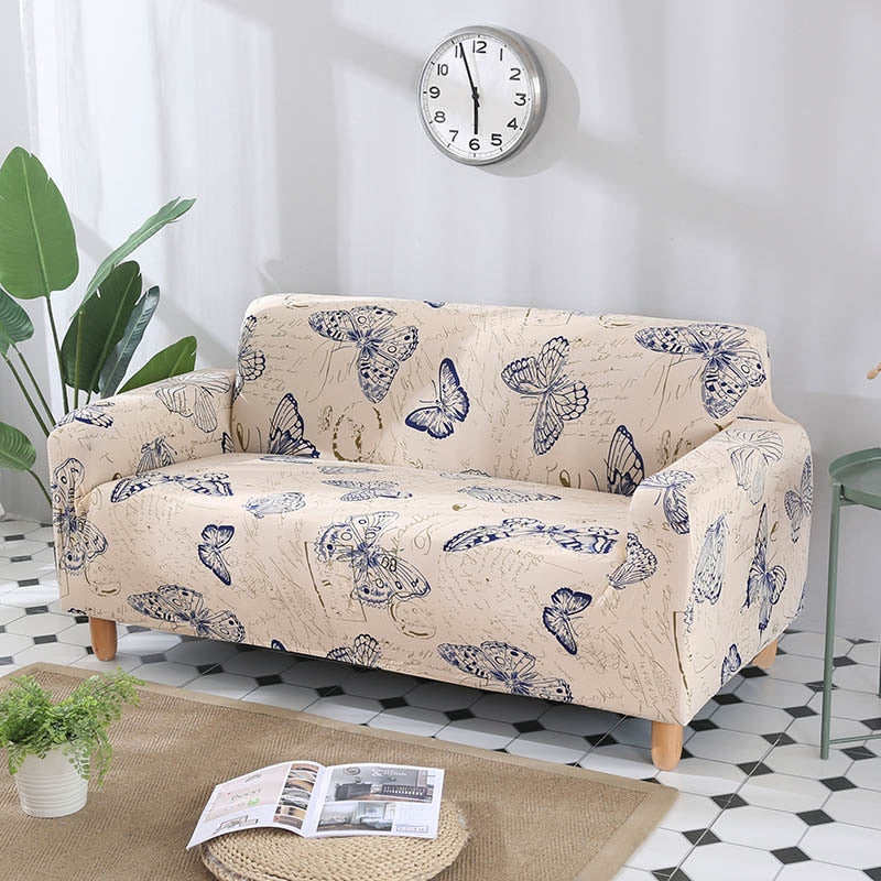 Vintage Butterfly Print Sofa Couch Cover