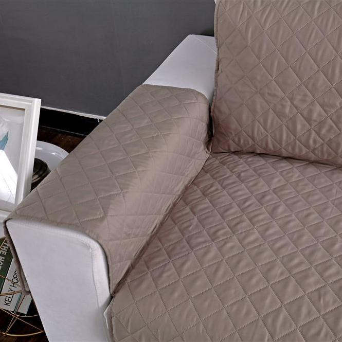 Solid Diamond Quilt Pattern Sofa Couch Protector Cover