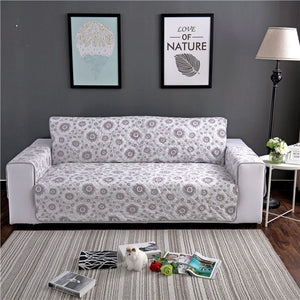 Solid Plush Velvet Quilted Sofa Couch Cover Protector