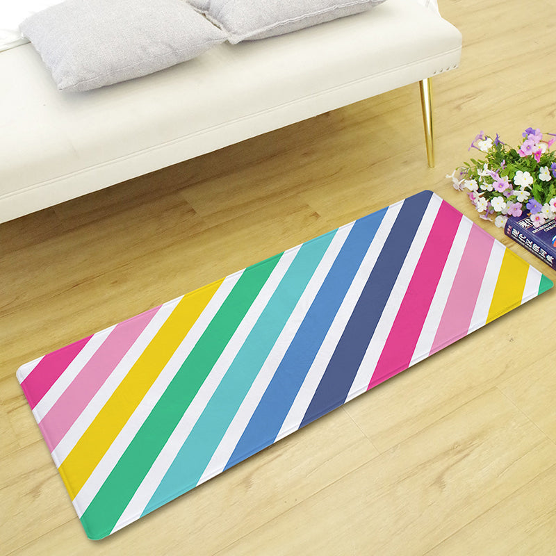 Multi-Color Rainbow Print Floor Runner Mat