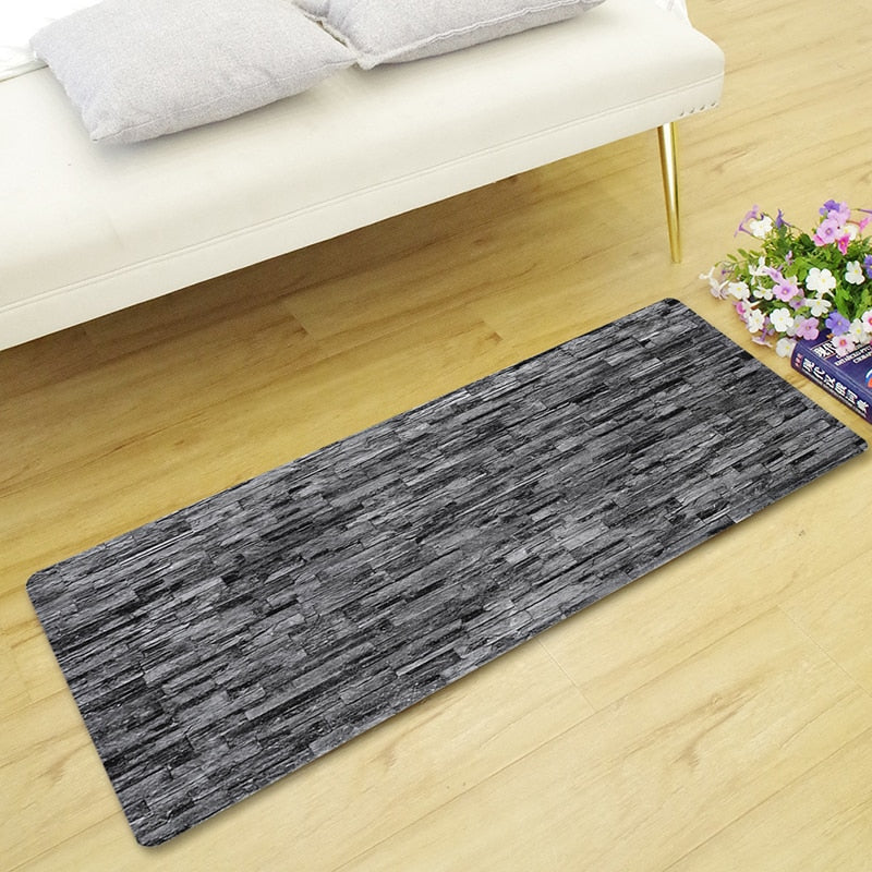 Brick / Stone Walkway Print Floor Runner Mat