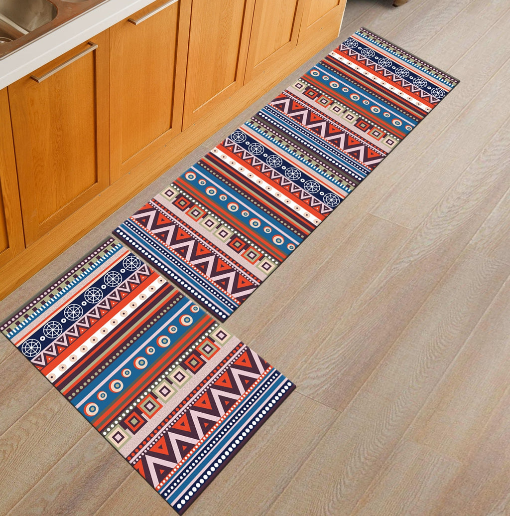 Multi-Color Boho Native Pattern Door Mat / Floor Runner