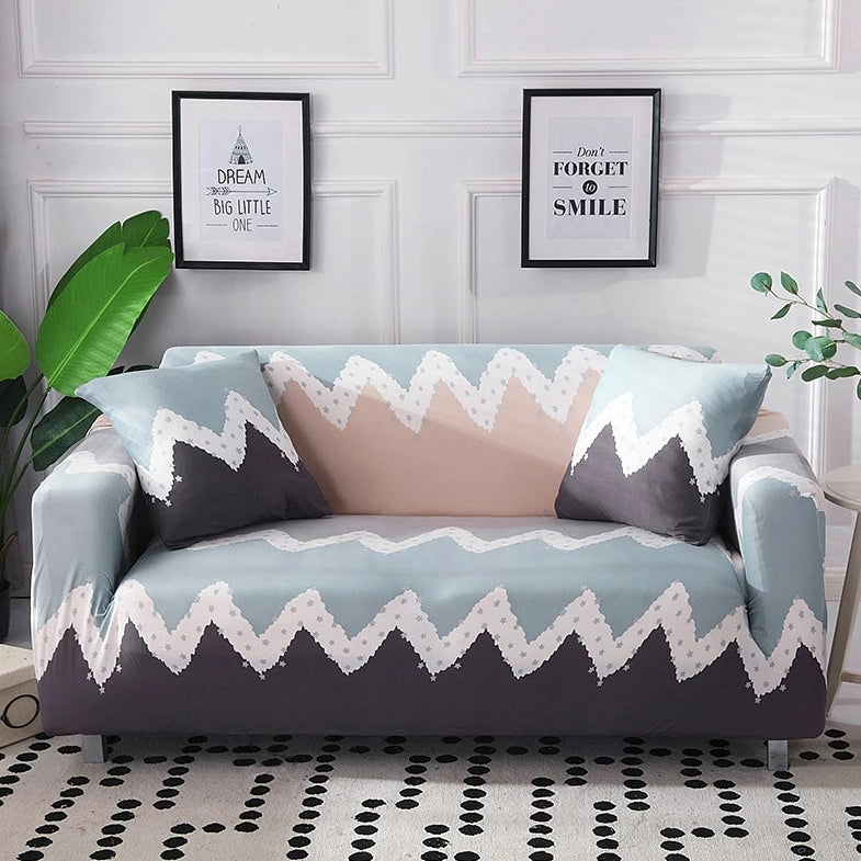 Abstract Southwestern Striped Sofa Couch Cover