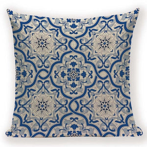 Vintage Floral Mandala Pattern Throw Pillow Cover