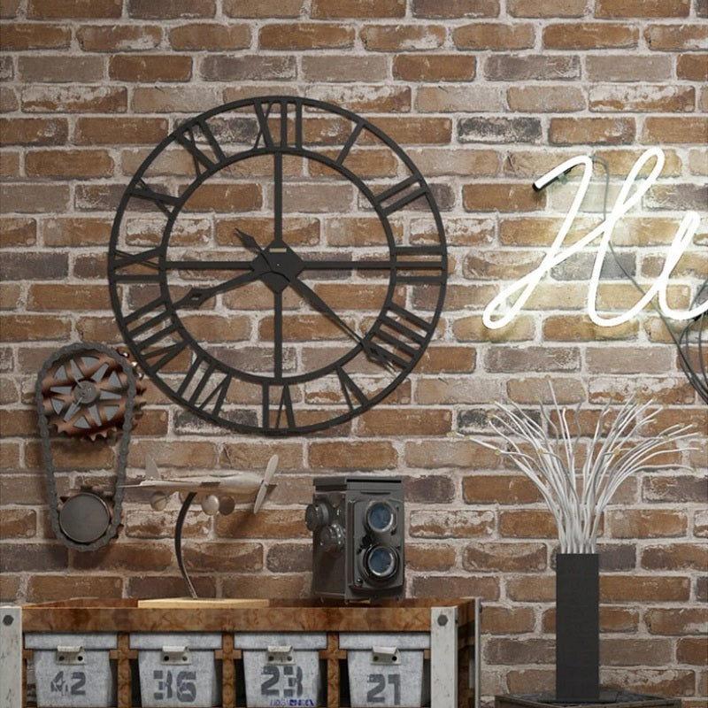 Multi-Color Vinyl Rustic Faux Brick Wallpaper