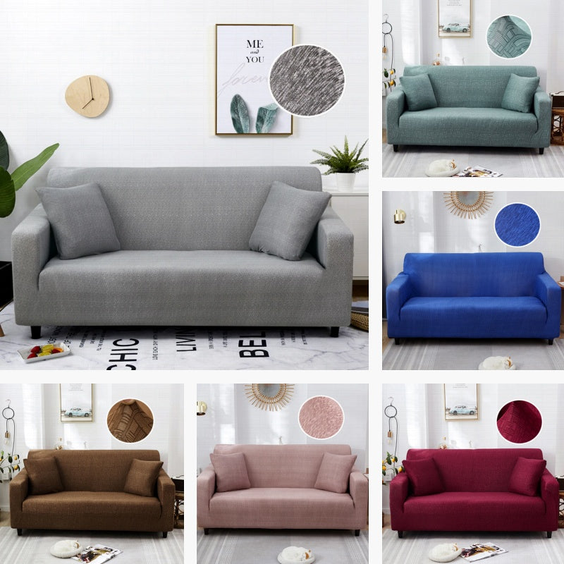 Simple Texture Pattern Elastic Sofa Couch Cover