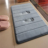 Striped Absorbent Memory Foam Bathroom / Floor Mat