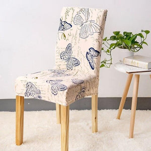 Vintage Butterfly Print Dining Room Chair Cover